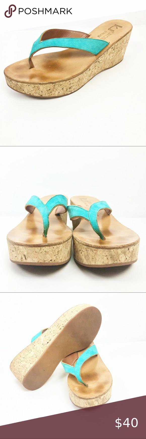 K Jacques St Tropez France Ladies Wedge Sandal 8 M in 2020