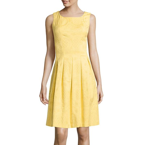 R&K Originals® Sleeveless Jacquard Fit-and-Flare Dress - JCPenney ...