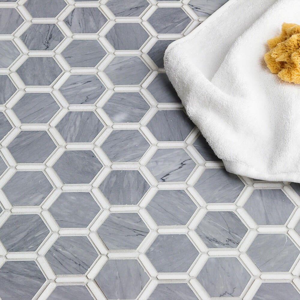Florentine Halley Gray Thassos Marble Tile Grey Marble Tile Marble Bathroom Floor Marble Bathroom