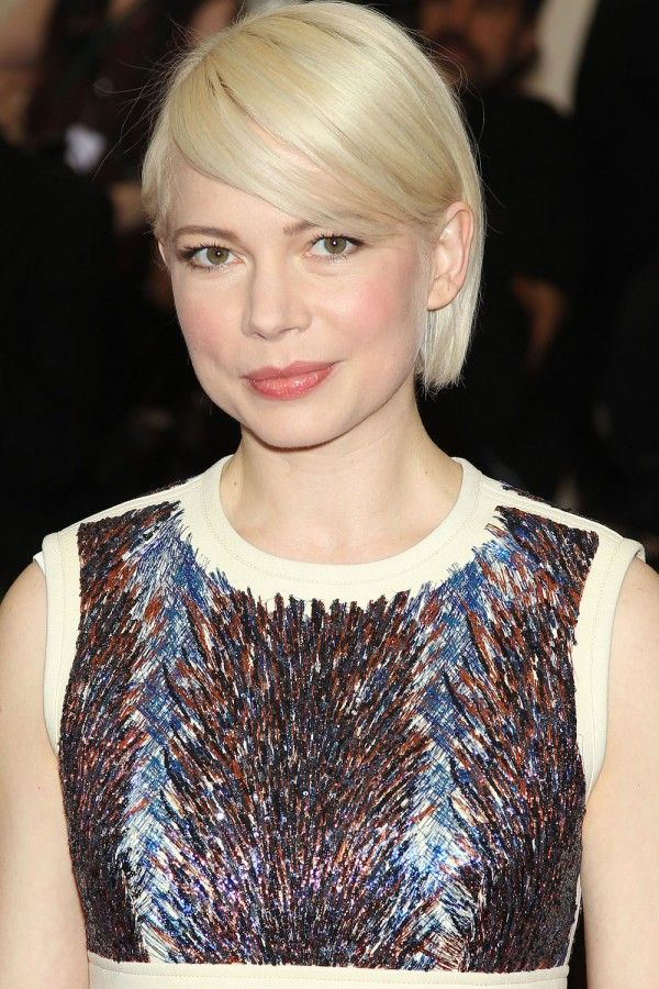 Michelle Williams with platinum blonde hair