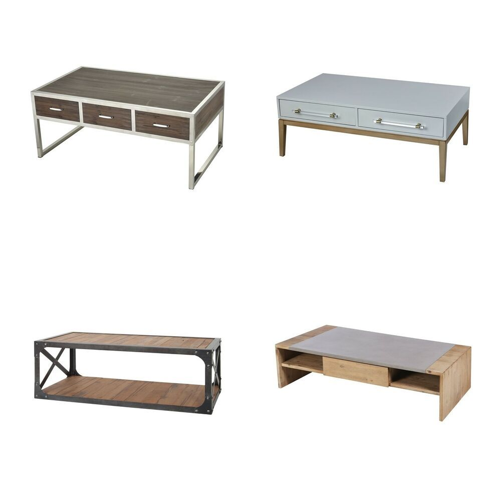 Coffee tables with storage drawers wheels round