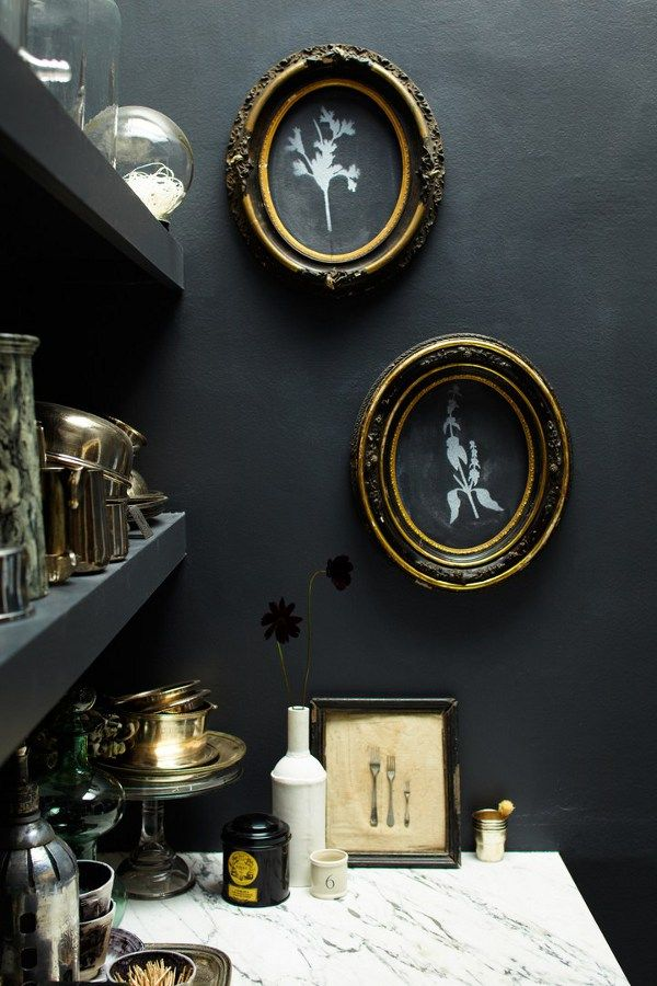 desire to inspire - this little black painted nook is adorable, love