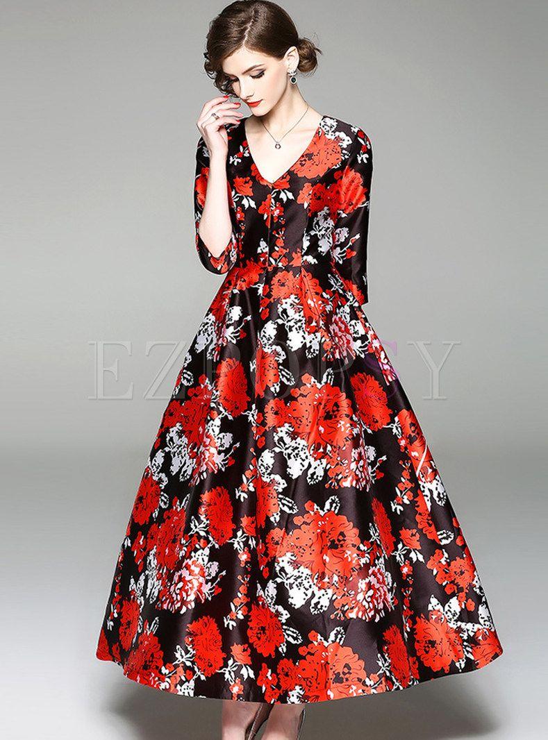 Vintage Flower Print V Neck Maxi Dress Print Chiffon Maxi Dress Shop Maxi Dresses Beautiful Maxi Dresses [ 1066 x 789 Pixel ]
