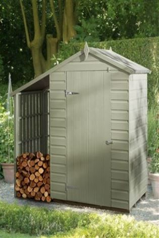 Oxford Lean To Shed with Wood Storage. | build something | Pinterest ...