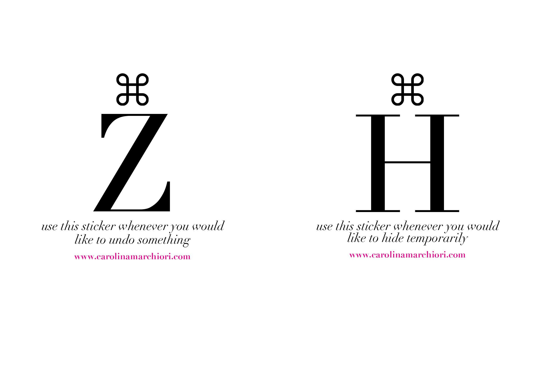 Command Z & Command H