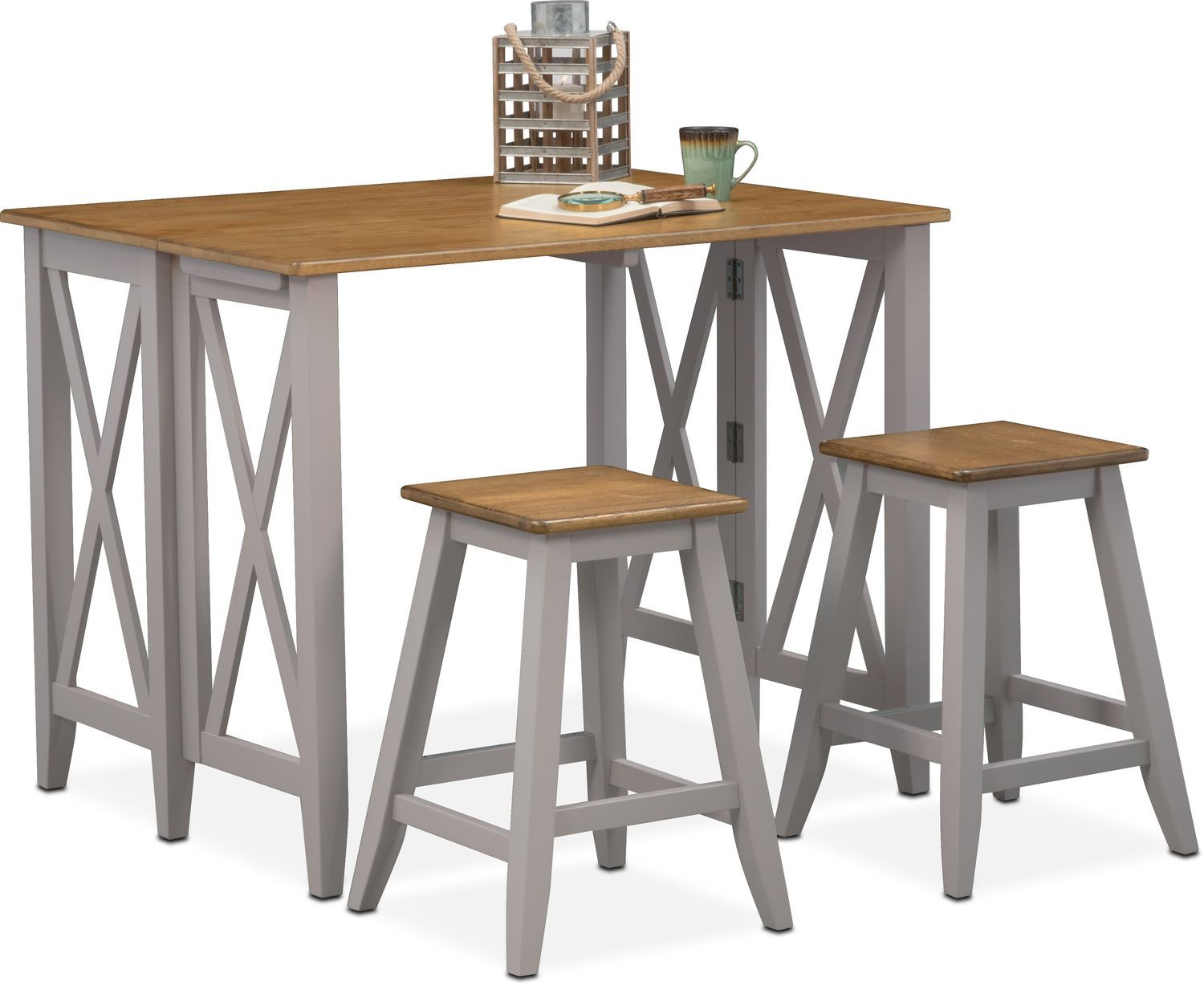 Nantucket Breakfast Bar And 2 Counter Height Stools Counter Height Stools Breakfast Bar Table Dining Room Sets