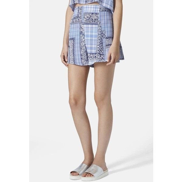TOPSHOP Boutique Tile Print Shorts (Juniors) (65 AUD) ❤ liked on ...