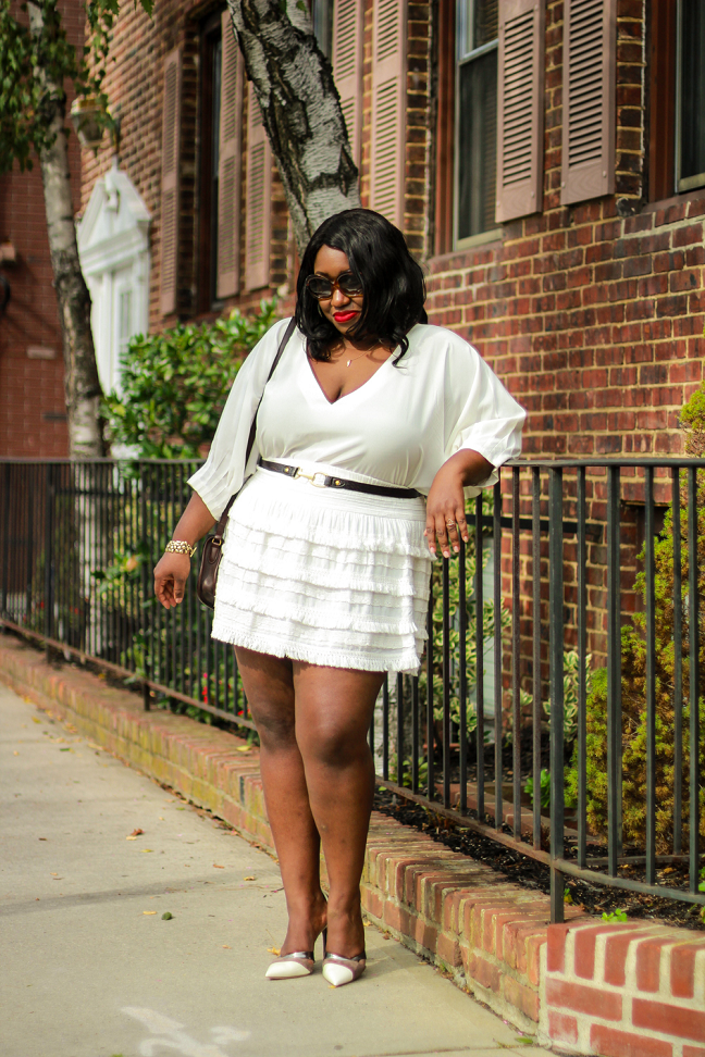 bf85d86645a Plus Size Fashion for Women • All White Outfit Idea • Ivory Coast
