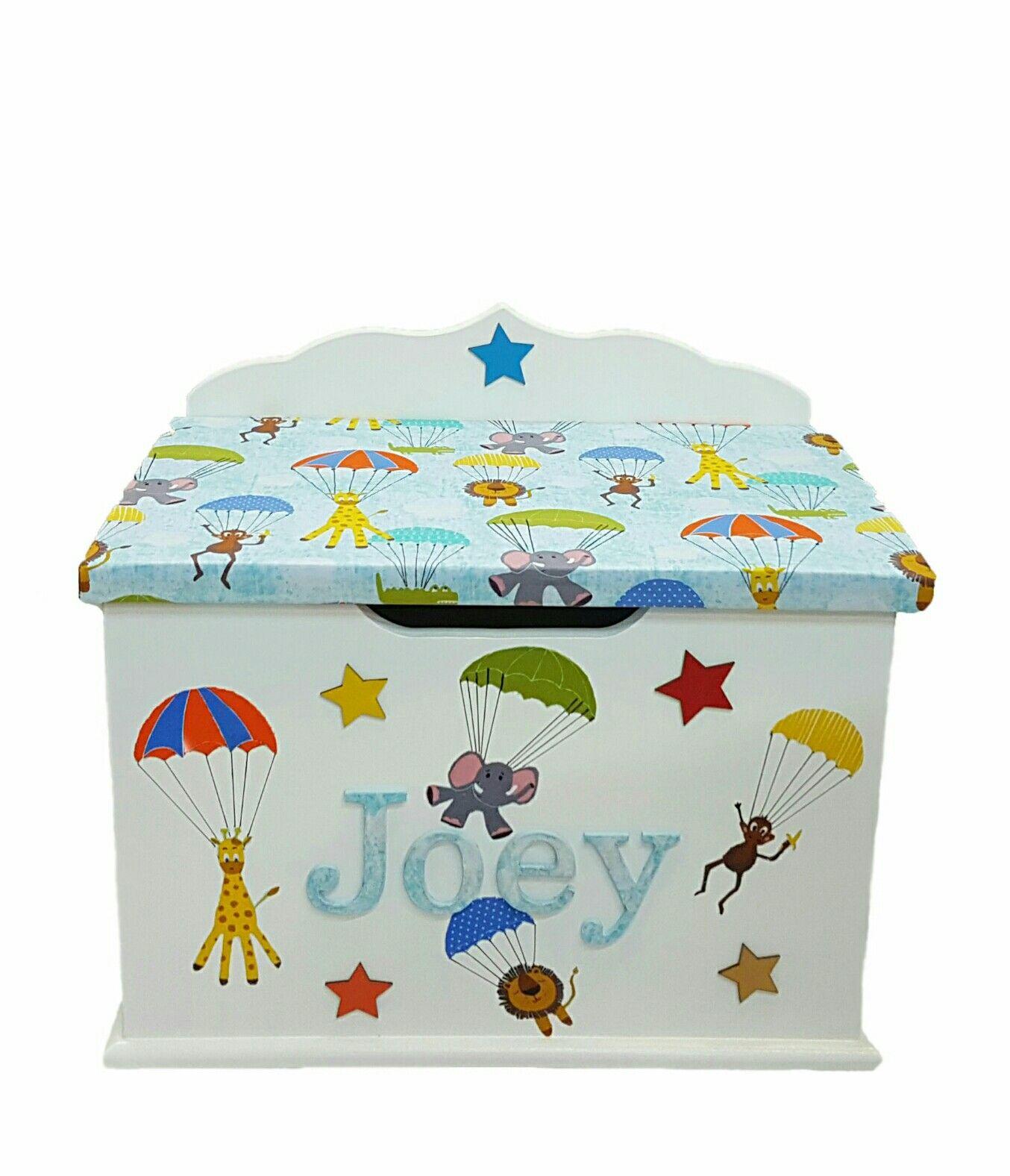 Personalised Toy Box Children Baby Kids First Birthday Christmas Bespoke