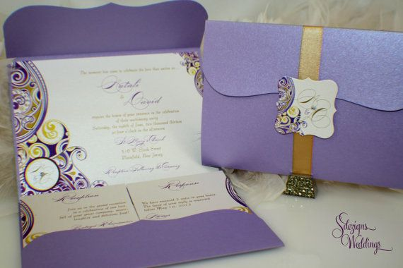 Gorgeous Wedding Invitations: Gorgeous Pattern Wedding Invitation