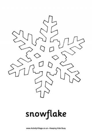 Snowflake Colouring Page Snowflake Coloring Pages Christmas