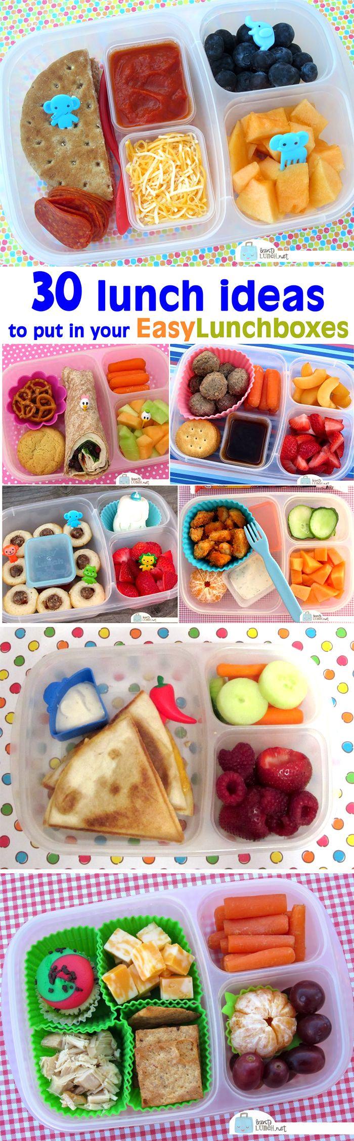 30 Lunch Ideas to Put in Your EasyLunchboxes #schoollunchideasforkids