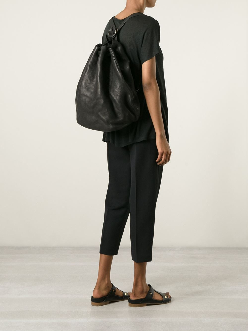 Guidi Distressed Leather Backpack