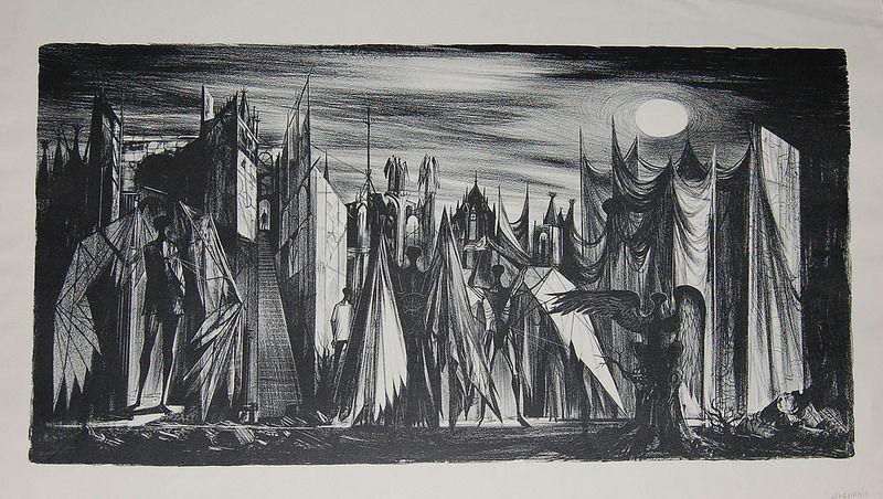 Joseph Mugnaini Confrontation, 1953 Art, Illustration