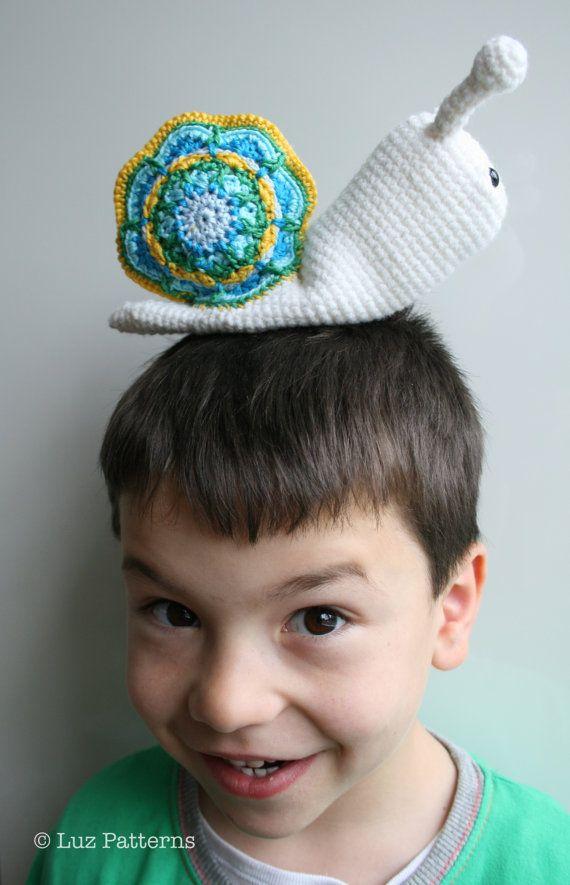 Crochet pattern amigurumi baby snail doll 140 baby by Luz Patterns #amigurumi #amigurumipattern