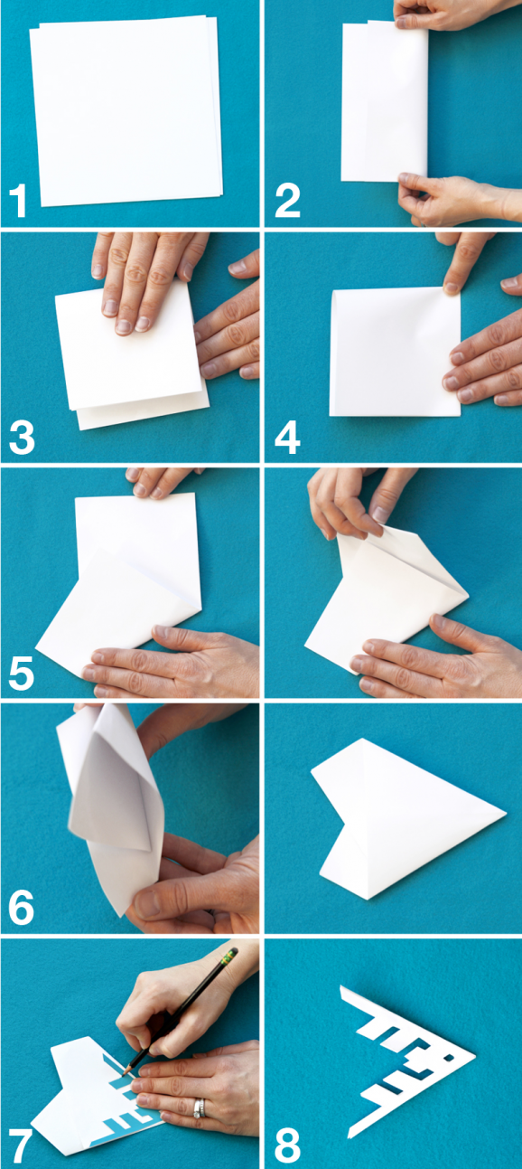 Free easy printable template with how to fold perfect for How to make a real paper snowflake