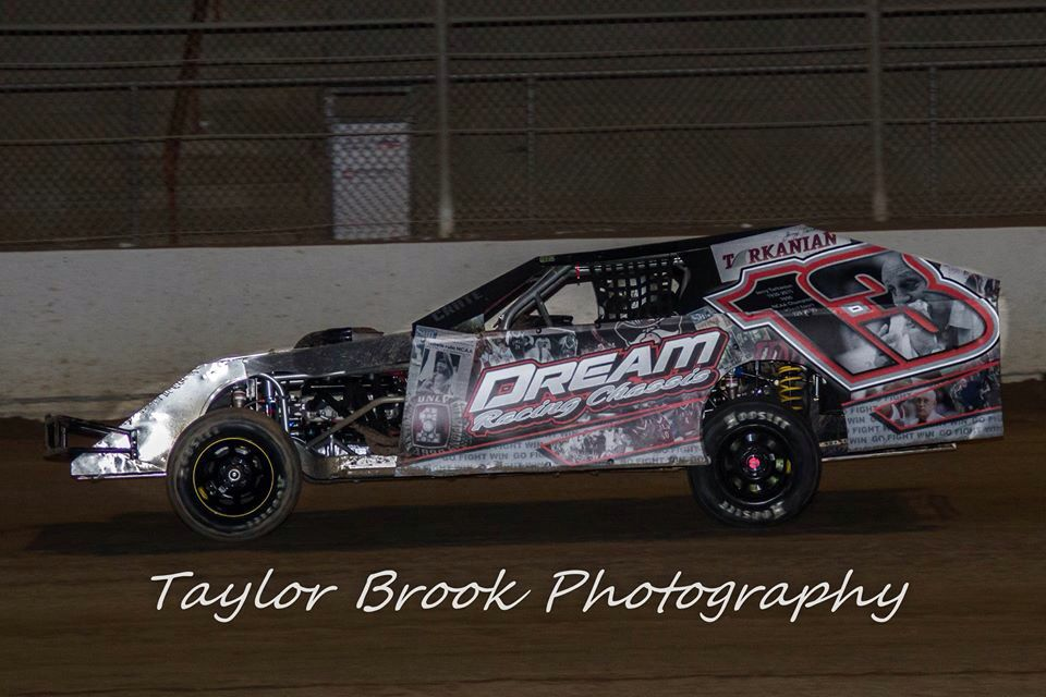 Imca dirt modified I designed and wrapped in memory of