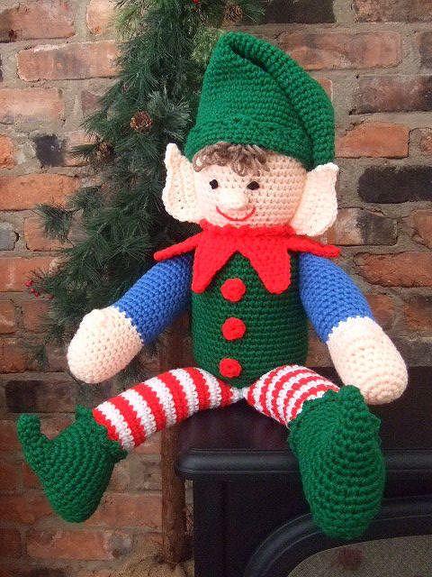 Elf On The Shelf Jumper Knitting Pattern : Elf on the shelf in amigurumi anyone?!?! Christmas Crochet2, Knit, & Ta...