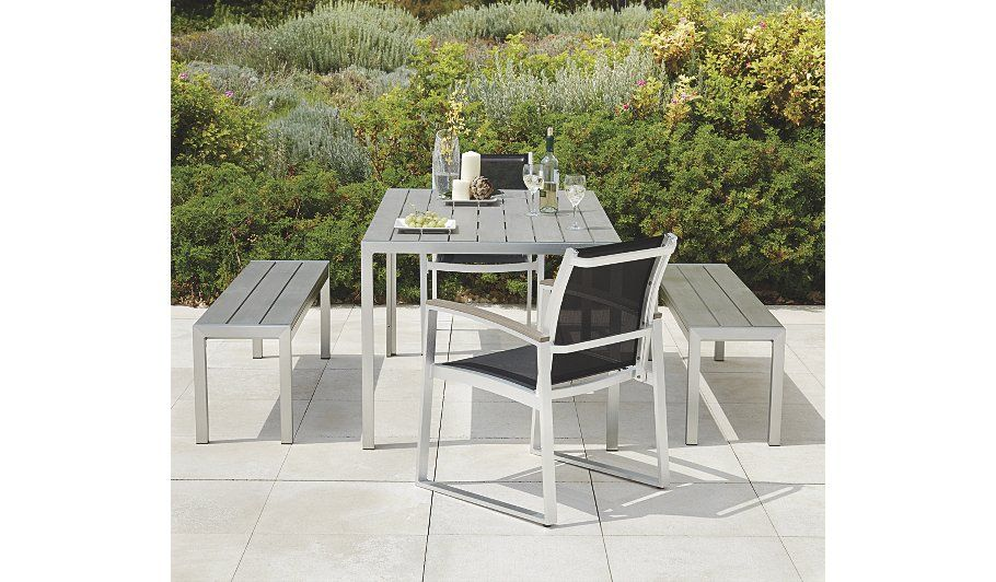 buy wyndham brushed aluminium 8 person patio dining table from our garden furniture range today from - Garden Furniture The Range