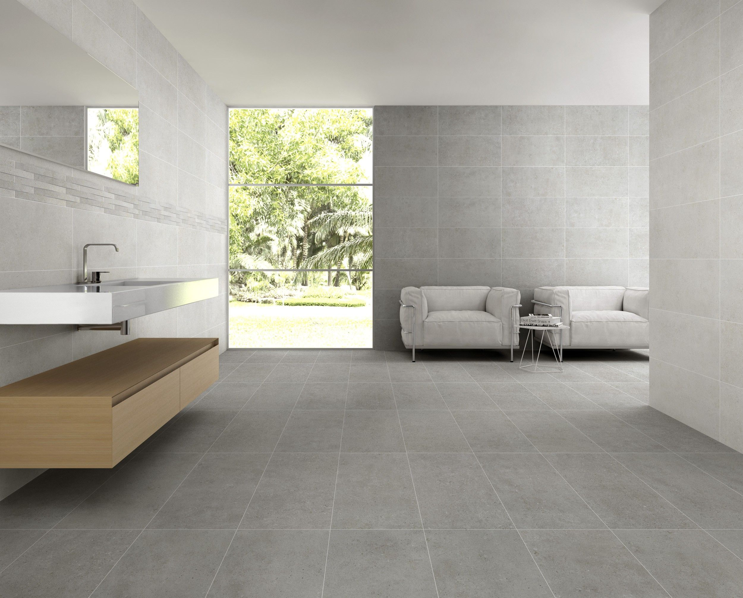 Sintesi Ceramica Italiana Explorer Booth 5211 Explorer Is Available In Two Surfaces Making It Adaptable To Interior Relooking Salle De Bain Tuile Mur Gris