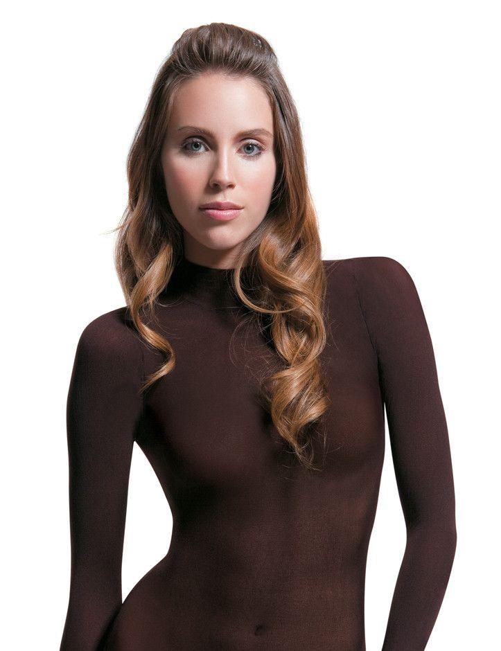 €29.95    Durchsichtiges langärmeliges Shirt, Nylon (Polyamid) in Mikrofaserqualität,  dünn, wie eine zweite Haut, 40 den, wie eine Strumpfhose für den Oberkörper,  sexy und verführerisch.  Einheitsgrösse: XS - S - M - L  97 % Multimikrofaser, 3 % Spandex