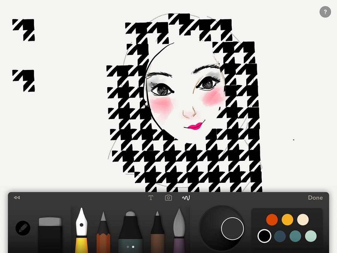 Shared by pjamon #madewithpaper #enclavedepod (o) http://ift.tt/2dZL5Wa  #doodle #art #illustration #artwork #drawings #draw #drawsomething #sketch  #paperby53 #dailydoodles #fiftythree #houndstooth