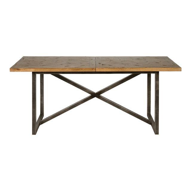 Mesa de comedor de madera y metal Halo Versalles | Mesas de ...