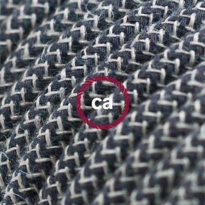 RD74 Fabric Cotton cables! Anthracite and natural linen fabric Try - couleur des fils electrique