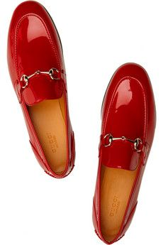 c64e124301ee53 Red Gucci loafers.