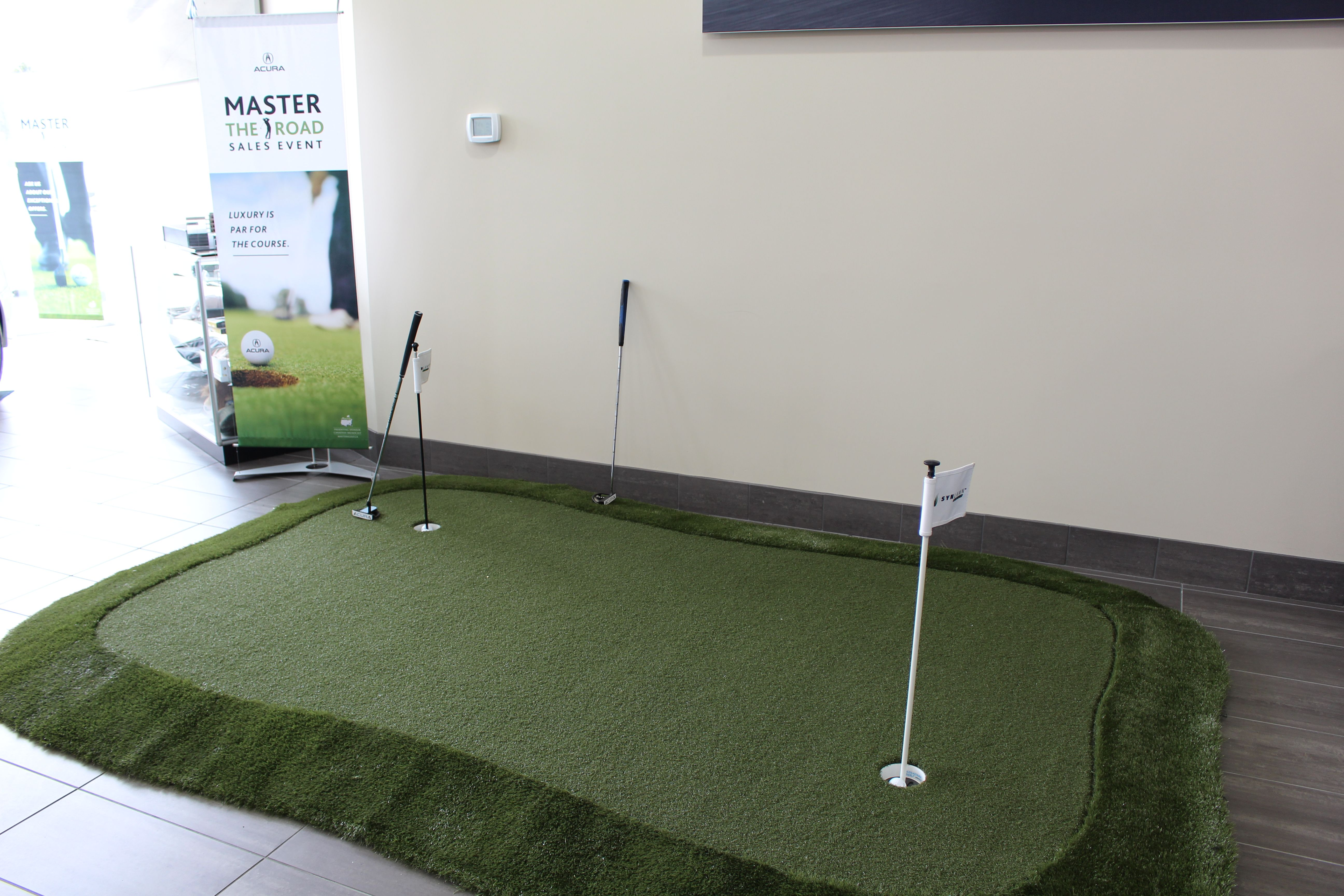 Summer's coming, come on in and practice your putting skills! #Honda #Putting #Golf