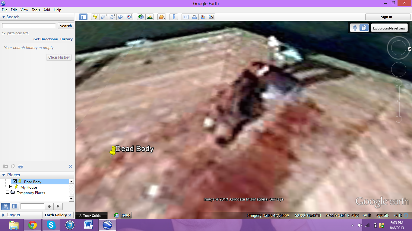 if you go to google earth type in the coordinates 52 376552