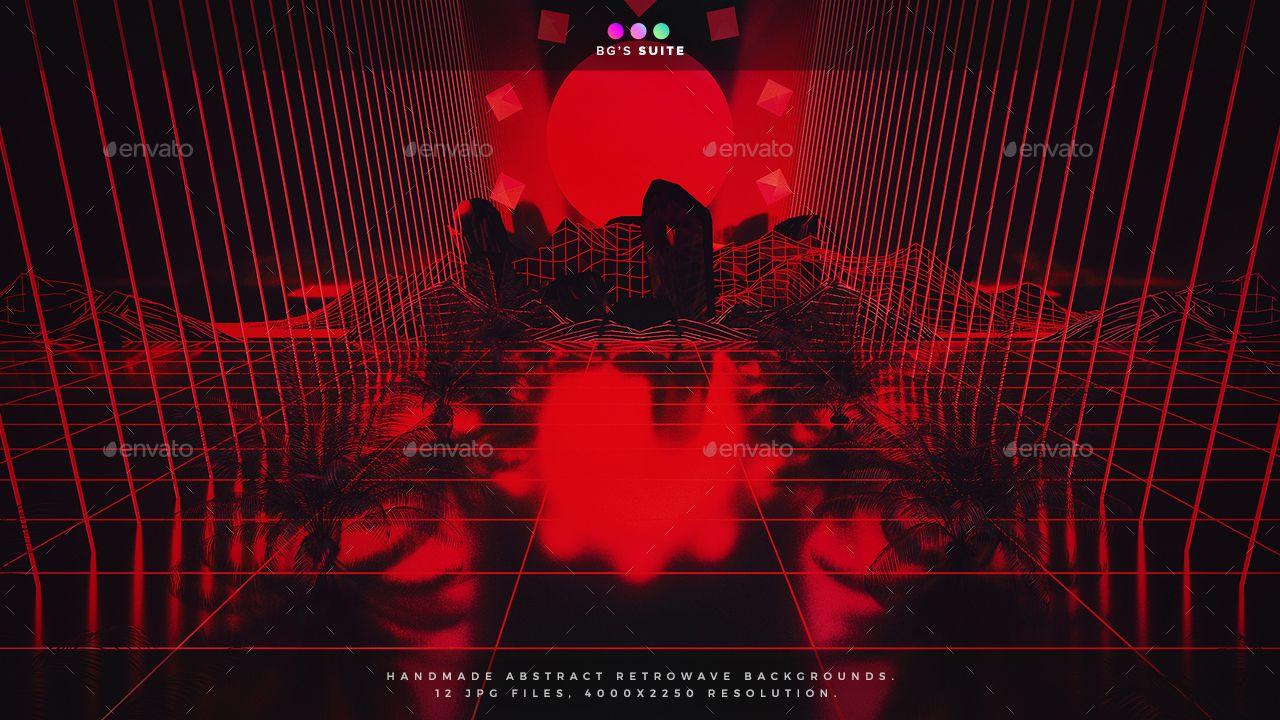 Retrowave Backgrounds #Retrowave, #Backgrounds | Design