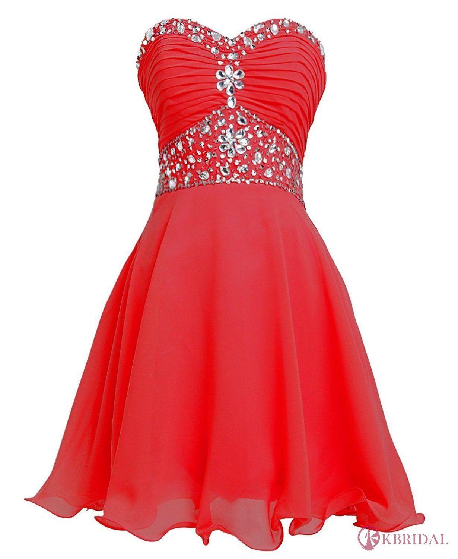 Short chiffon strapless crystal homecoming dress d homecoming