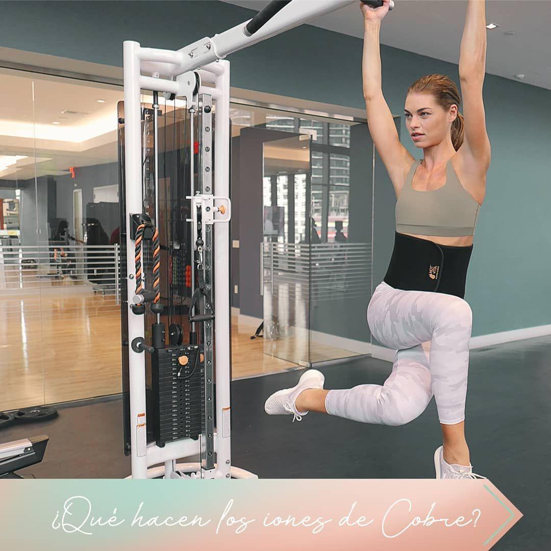 """""""La tecnología térmica de nuestro Copper Sweat Belt estimula la circulación de tu abdomen para que t..."""