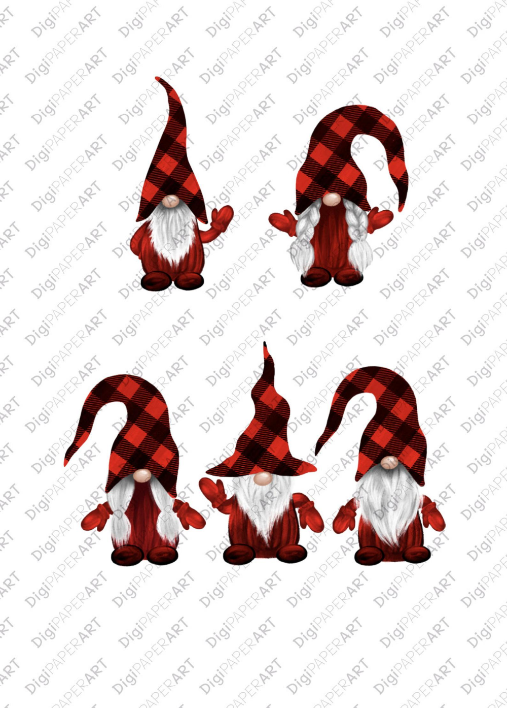 Christmas Png Buffalo Plaid Gnomes Clipart Scandinavian Etsy Scandinavian Gnomes Gnomes Crafts Gnome Patterns