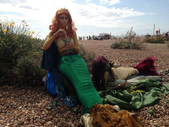 Just another day in #Brighton  beach via Tim Bogan #travel #england #mermaids