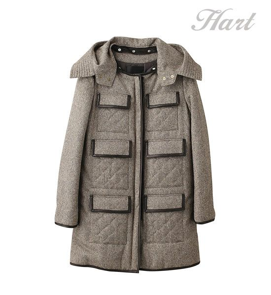 Six pocket lame tweed coat
