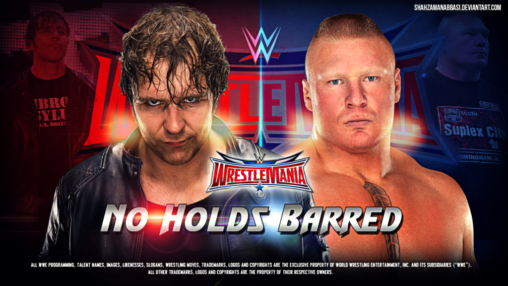 Wrestlemania 32 Dean Ambrose Vs Brock Lesnar Brock Lesnar Dean Ambrose Wrestlemania 32