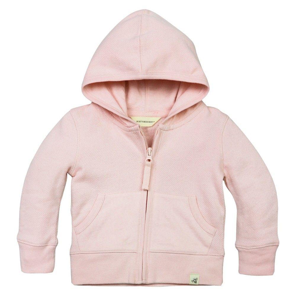 482a0da30 Baby Girls  Loose Pique Hoodie Pink 24 M - Burt s Bees Baby