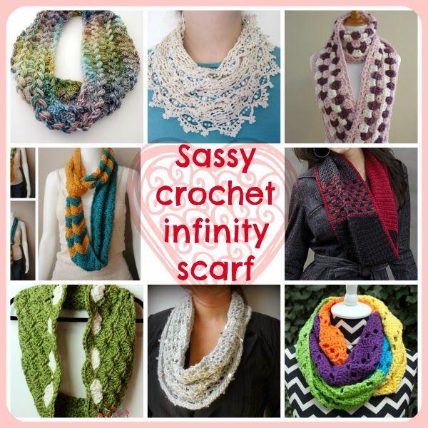 Sassy Crochet Infinity Scarves | crochet hats/scarves | Pinterest ...
