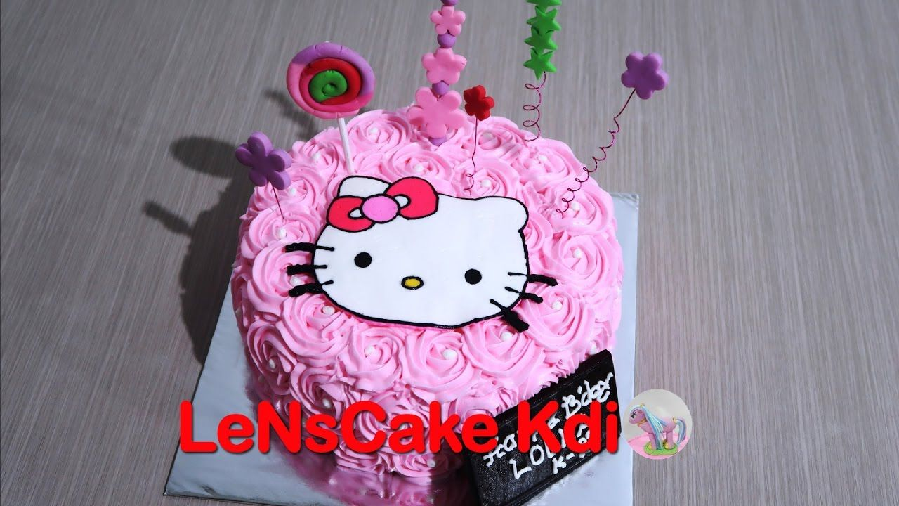 cara membuat kue ulang tahun hello kitty how to make birthda