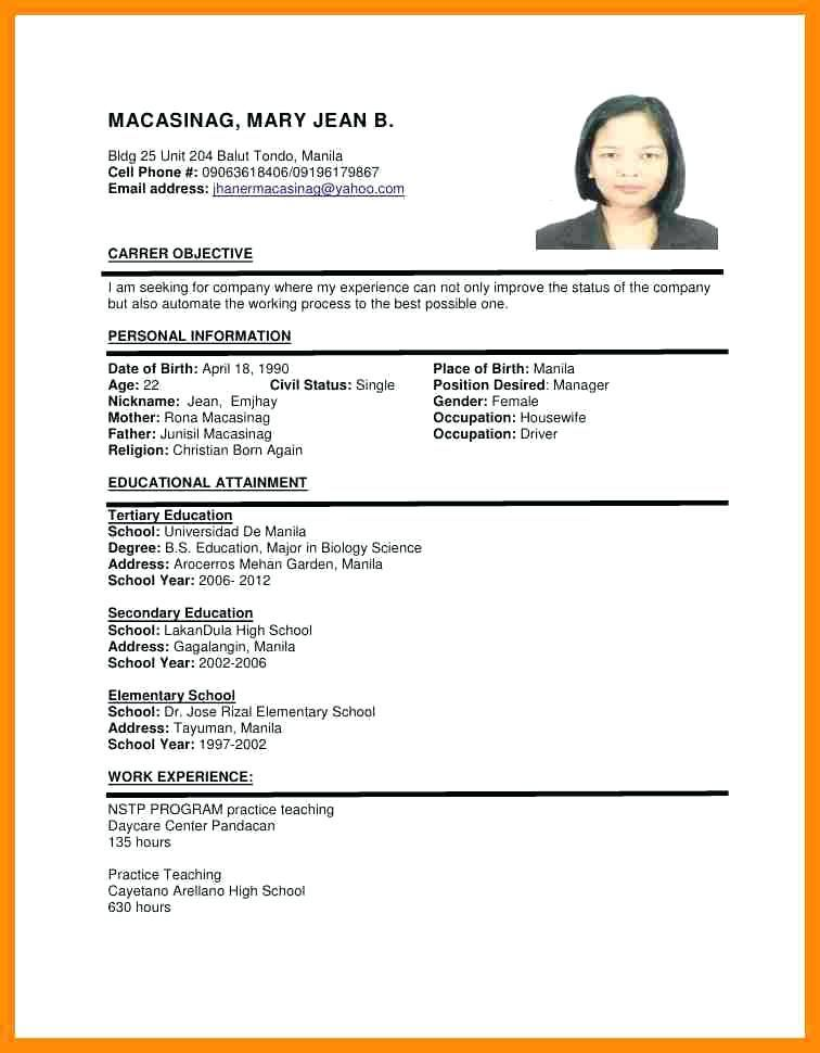 Resume Format Uae Resume Format Job Resume Format Cv Format Sample Simple Resume Format