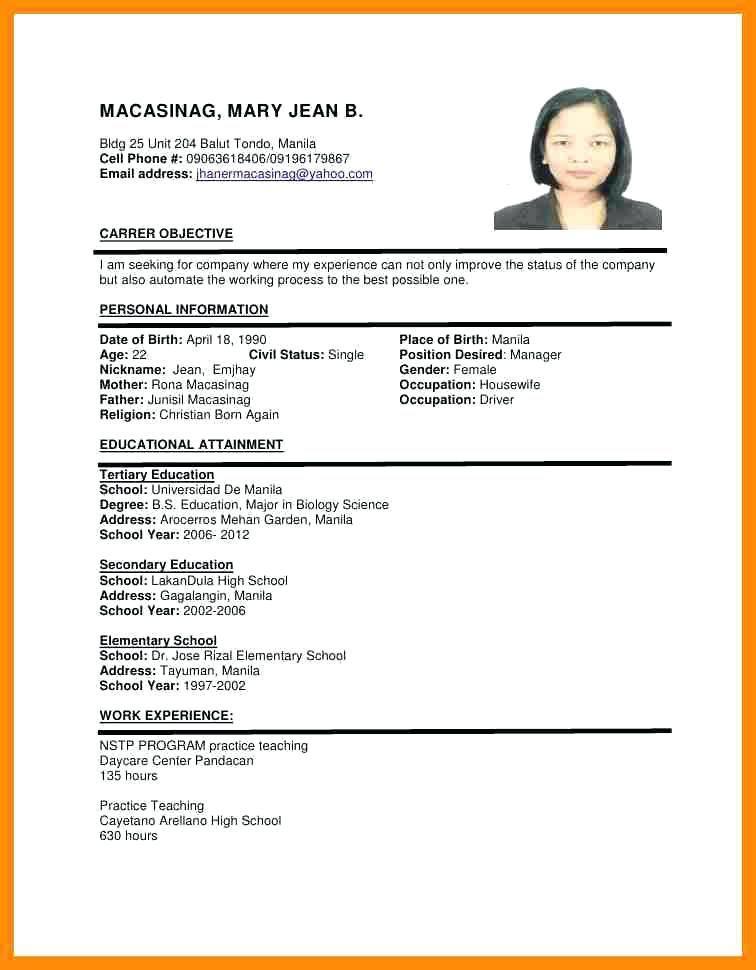 Resume Format Uae Resume Format Job Resume Format Resume Format Examples Cv Format Sample