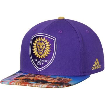 f18ac53e32e Men s Orlando City SC adidas Purple Map Snapback Adjustable Hat ...