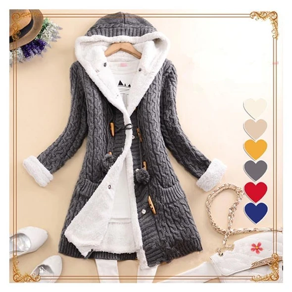 2020 New cashmere thick warm hooded coat – outdoorgears6   Knit sweater  cardigan, Girls sweaters, Cardigan sweater jacket