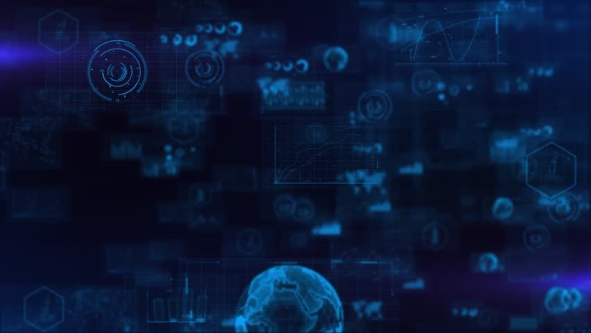 Data Analysis Backgrount Technology Background Stock Footage Video
