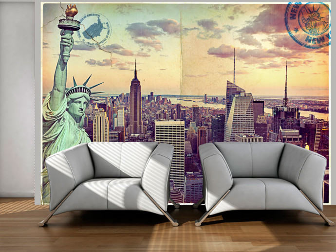 Papier peint moderne Postcard from New York
