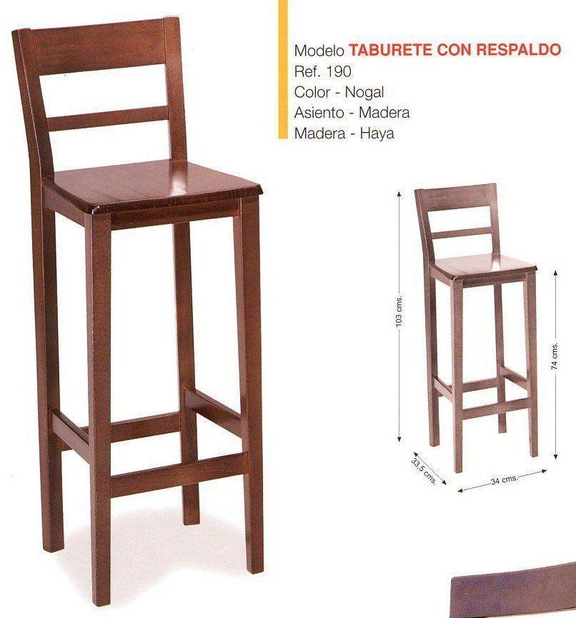 Madera silla de la barra restaurante de madera maciza for Sillas y taburetes de cocina en ikea