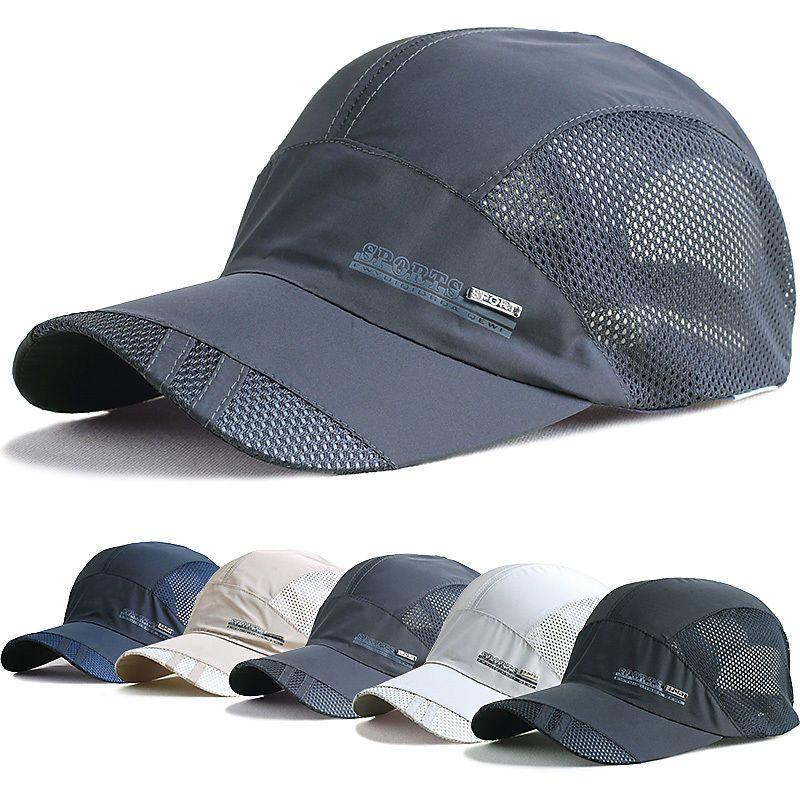 Spring Summer Baseball Hat Sunhat Wicking Breathable Sweat Fast Drying Dry Fit Bone Masculino Masculino Bone