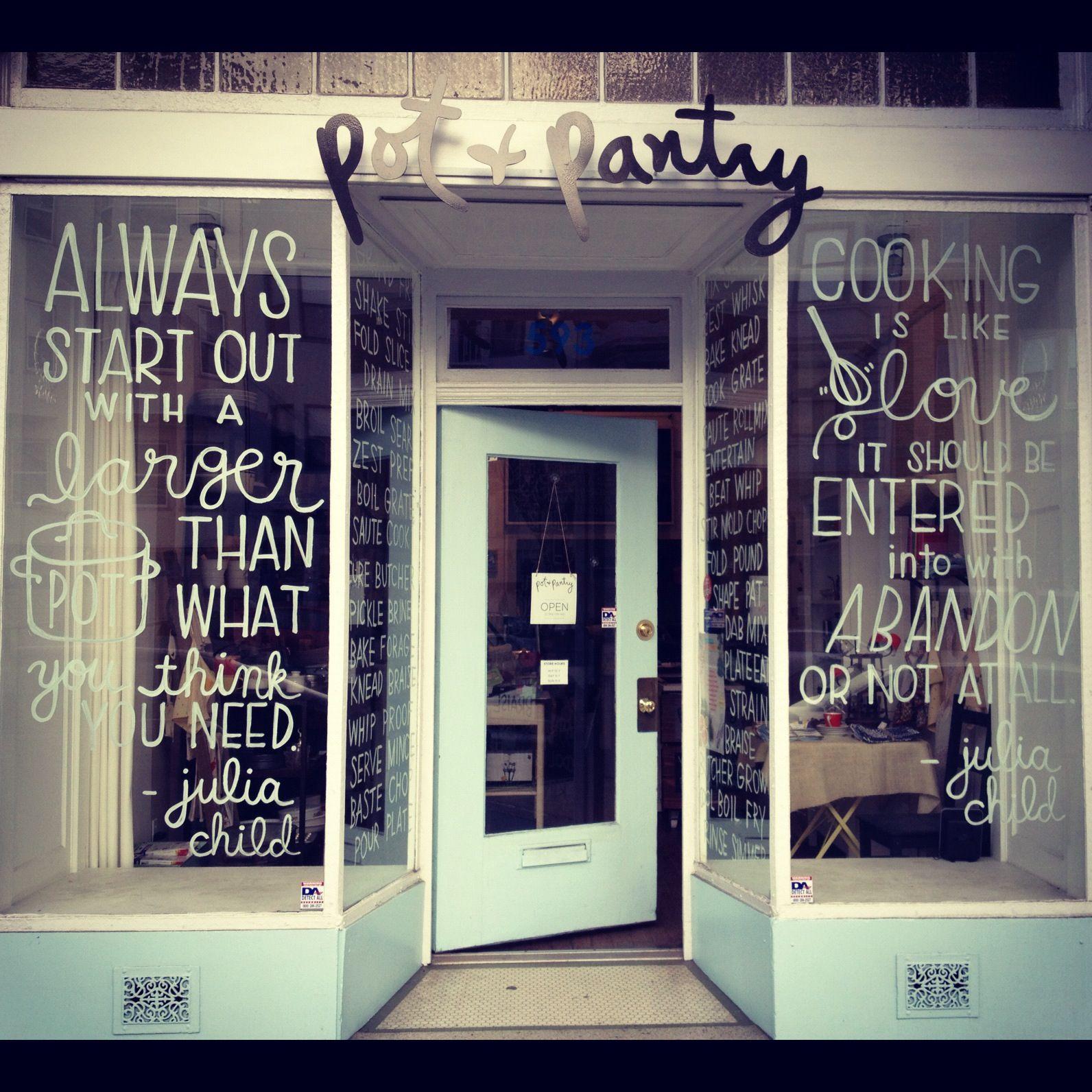 Shop windows in pot u pantry san francisco ca design pinterest